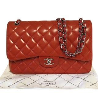 Chanel Quilted Leather Jumbo Double Flap