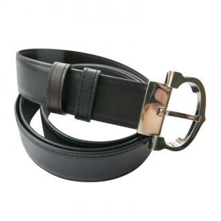 Cartier black/brown classic C belt