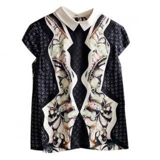 Peter Pilotto Printed Silk Blouse