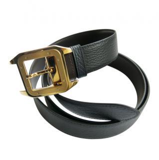 Cartier Black & Brown Reversible Santos Belt
