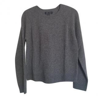 MaxMara grey cashmere crew neck jumper