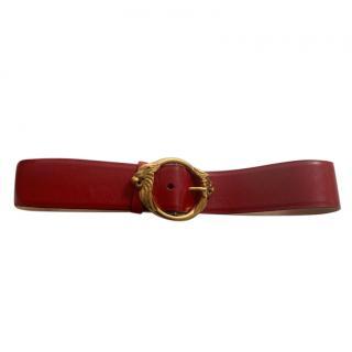 Roberto Cavalli red leather statement belt