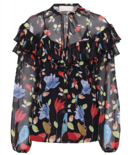 Peter Pilotto Floral-print Georgette Blouse