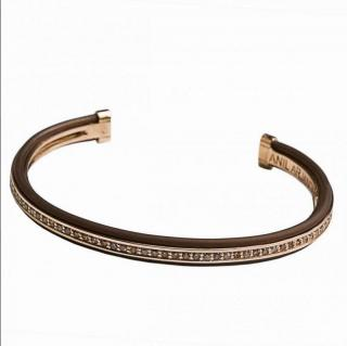 Anil Arjandas riviere 18ct rose gold and brown diamond bracelet