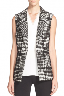 Theory Eldora Glen Plaid Vest