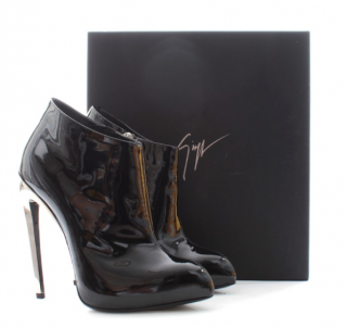 Gianvito Rossi Mirror Heel Patent Ankle Boots