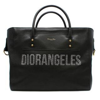 Dior Diorangeles Black Studded Leather Tote Bag
