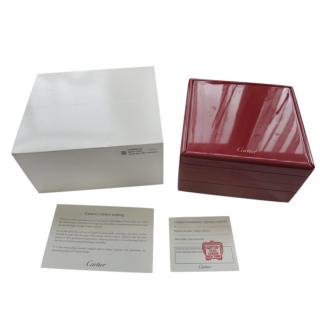 Cartier red polished wool jewellery box