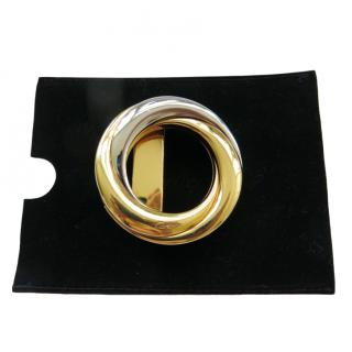 Cartier Trinity polished gold metal belt buckle