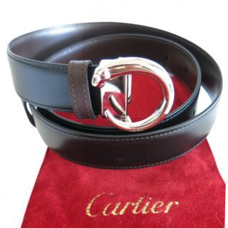 Cartier Panthera silver metal belt buckle
