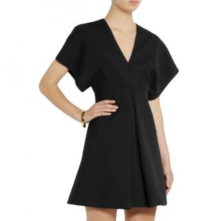 Saint Laurent Black Wool-Gabardine Dress