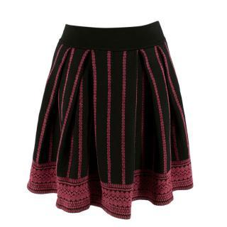 Maje Jacquard Knit Skater Skirt