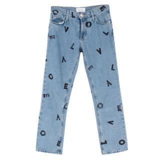 Current/Elliott Love Letters Crop Jeans