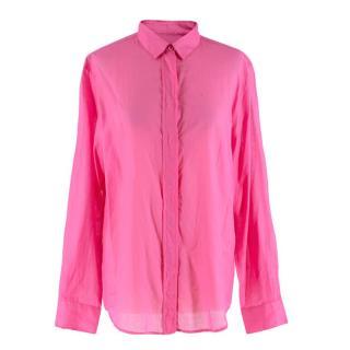 McQ by Alexander McQueen Fuchsia Cotton Button Detail Shirt