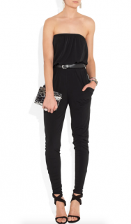 Michael Michael Kors Strapless Jersey Jumpsuit