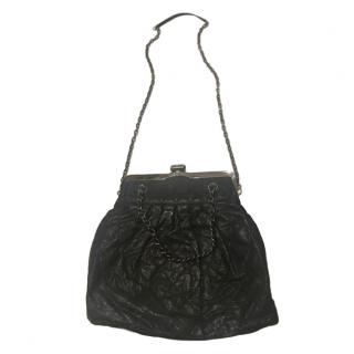 Chanel Black Quilted Leather Chain Crossbody Bag