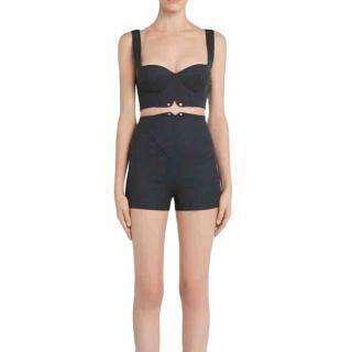 La Perla Grey Virgin Wool Bralet & High Waisted Shorts