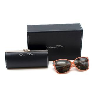 Oscar de la Renta X Linda Farrow D-Frame Sunglasses