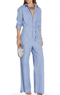 Rosie Assoulin End-on-end cotton-poplin jumpsuit