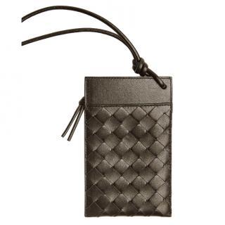 Bottege Veneta intrecciato brown leather iPhone wallet