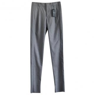 Saint Laurent grey tapered wool trousers