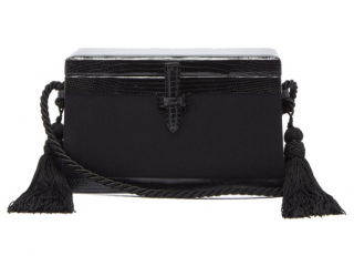 Hunting Season Square Trunk Satin & Lizard Cross Body