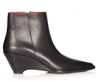 Acne Studios Black Cony Leather Ankle Boots