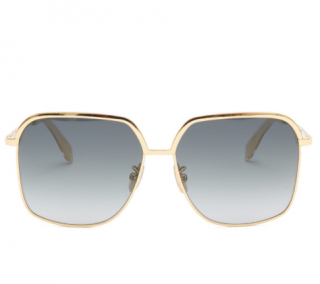 Celine Gold Oversized Square Sunglasses