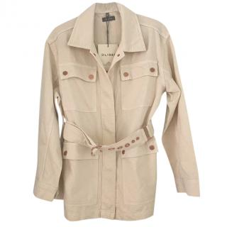 DL 1961 Cream Longline Denim Jacket