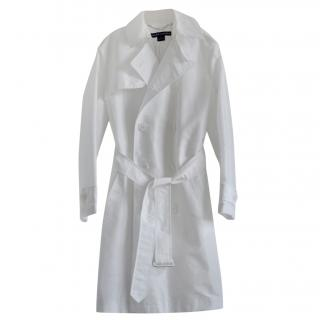 Ralph Lauren Black Label Double Breasted White Trench Coat