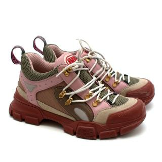 Gucci Suede, Leather & Technical Nylon Chunky Flashtrek Sneakers