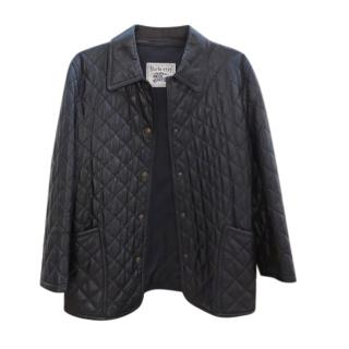 Burberry's Black Lambskin Diamond Quilted Jacket