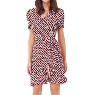 Diane von Furstenberg chainlink print wrap dress