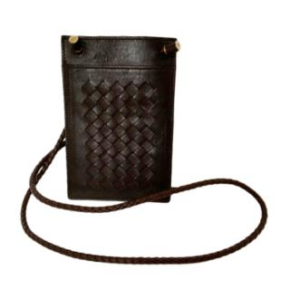 Bottega Veneta Brown Intrecciato Iphone Wallet