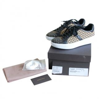 Bottega Veneta intreccio black leather sneakers