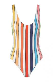 Caroline Constas Aristi Striped Swimsuit
