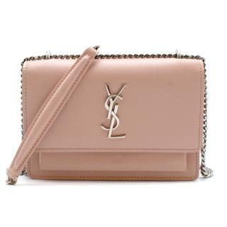 Saint Laurent Pink Sunset Mini Monogram Smooth Leather Bag