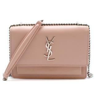 Saint Laurent Pink Sunset Mini Monogram Smooth Leather Bag