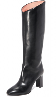 Acne Studios Black Leather Aly V Boots