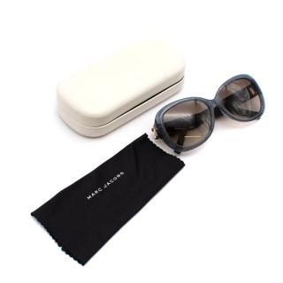 Marc Jacobs Glitter Oval Sunglasses