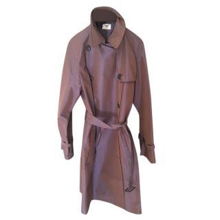 Hermes purple shimmer light weight trench coat