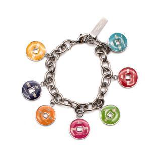 Shanghai Tang Silver & Multi Enamel Charm Bracelet