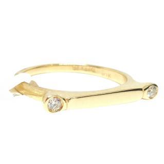 Fragments Yellow Gold Diamond Bar Ring