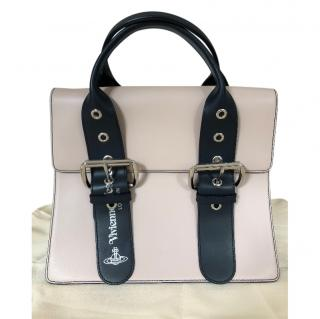 Vivienne Westwood beige leather VW handle bag