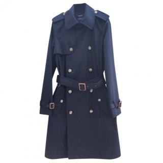 Polo Ralph Lauren Navy Double Breasted Trench Coat