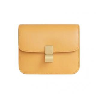 Celine Teen Classic Bag in Yellow Box Calfskin