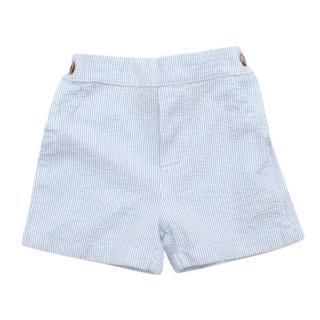 Thomas Brown Baby Blue Pin-Striped Shorts