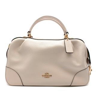 Coach Off-White Grained Leather Bowler Bag