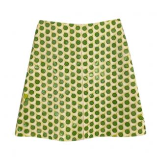 Jonathan Saunders large green sequinned mini skirt