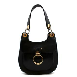 Chloe Small Black Leather Tess Hobo Bag